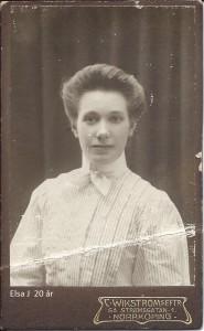 Elsa Johansson ca 20