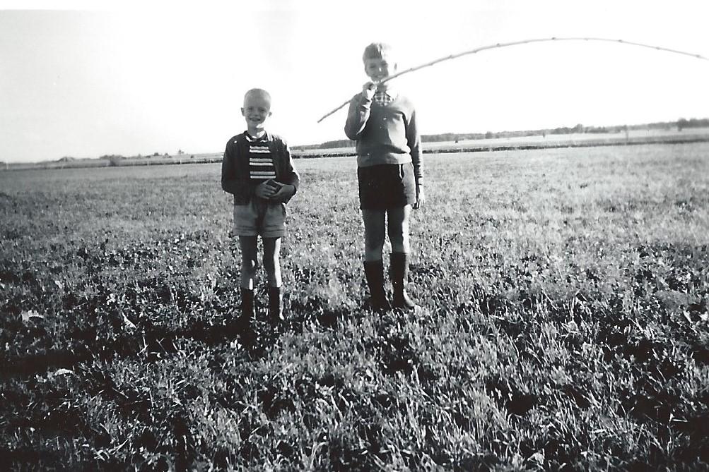 Lennart och Anders efter mete